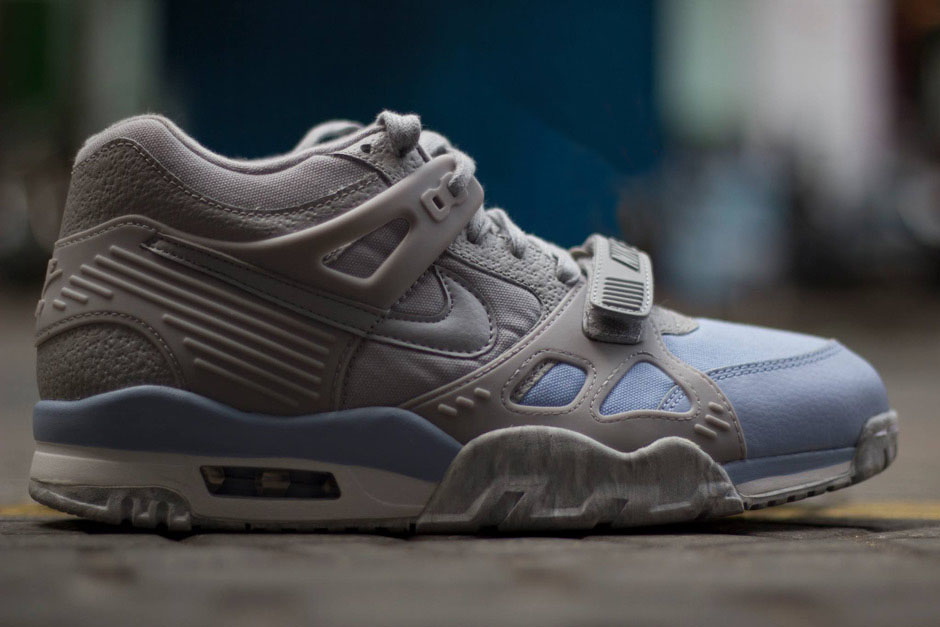 new arrival 7b6b4 9c8a4 ... nike air trainer 3 blue grey canvas leather