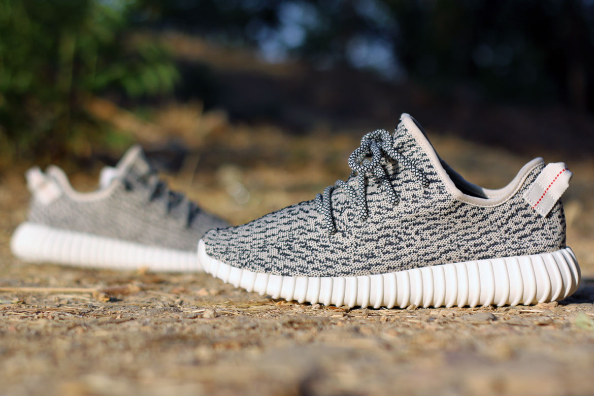 Adidas Yeezy 350 Boost Turtle Dove On Foot