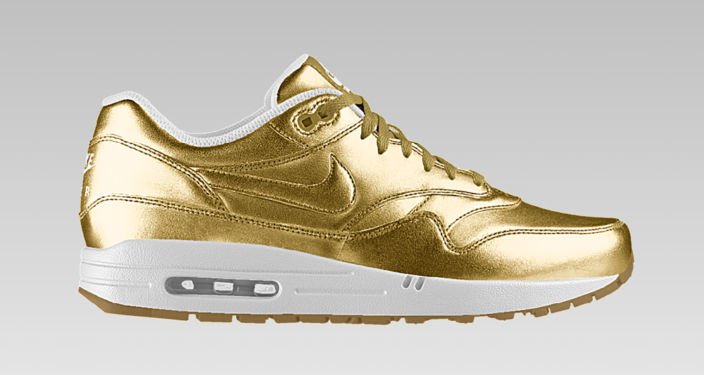 performance sportswear on feet at uk cheap sale Nike Air Max 1 Id Gold leoncamier.co.uk