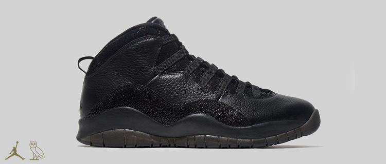 Air Jordan 10 OVO Black