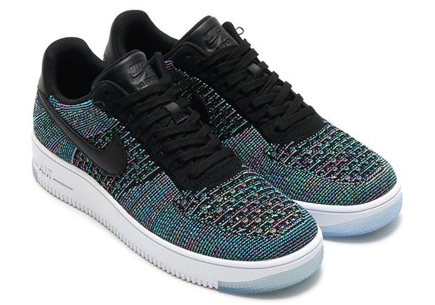 Nike air force one bleu pastel flyknit