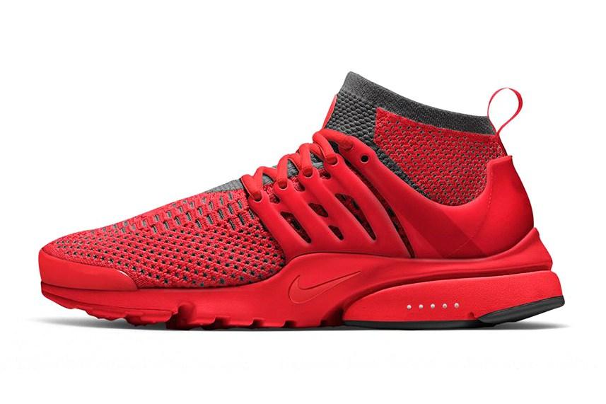 Nike Presto Flyknit Rouge Et Noir