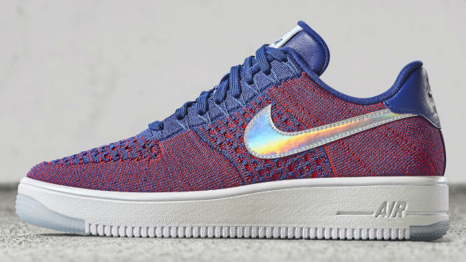 nike air force 1 flyknit blue