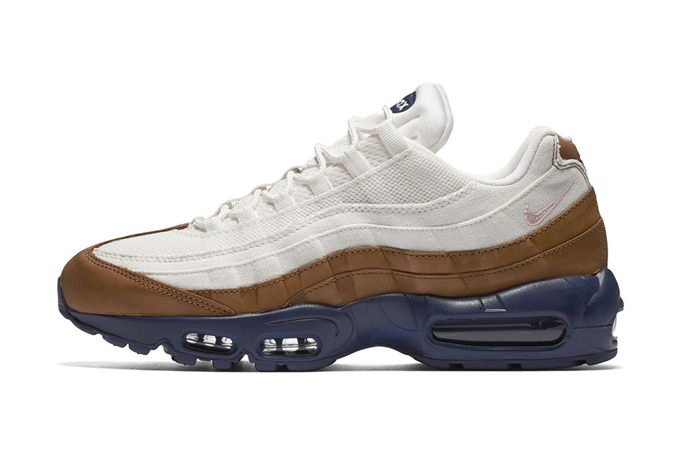 Nike Air Max 95 WhiteBrown Navy Le Site de la Sneaker