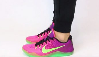 nike-kobe-11-mambacurial-pink-flash-action-green-red-plum