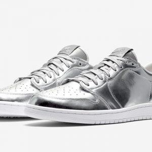 Air Jordan 1 Low Pinnacle Metallic Silver