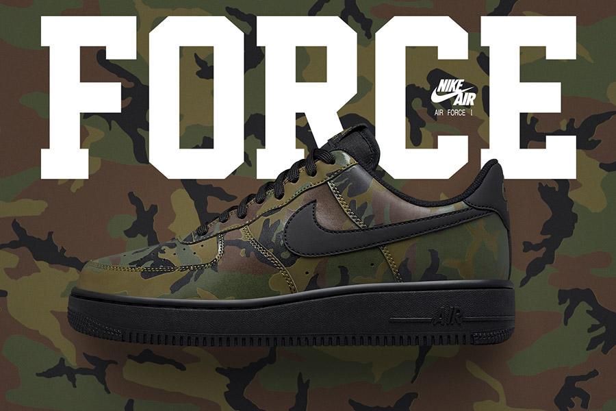 Nike Air Force 1 Low Camo Reflective Medium Olive - Le Site de la ...