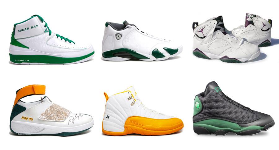 Quelques unes des Air Jordan PE les plus marquantes de Ray Allen