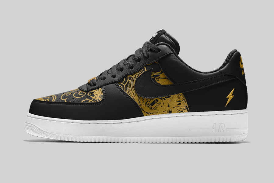 nikeid air force 1 chinese new year black