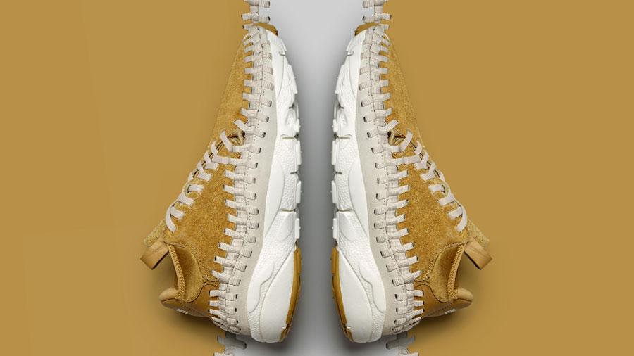 Nike Air Footscape Woven Chukka Flat Gold