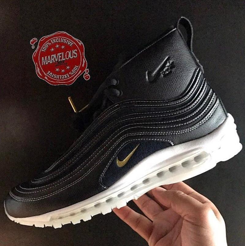 sale retailer 6e2d0 e11d8 Pour le moment, il n y a pas d infos sur la sortie de ces Riccardo Tisci x  Nike Air Max 97 Mid Black. Découvrez une première photo ci-dessous.