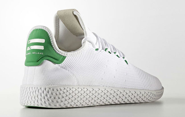pharrell adidas tennis hu white green 2