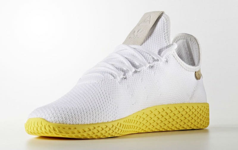 pharrell adidas tennis hu white yellow release date