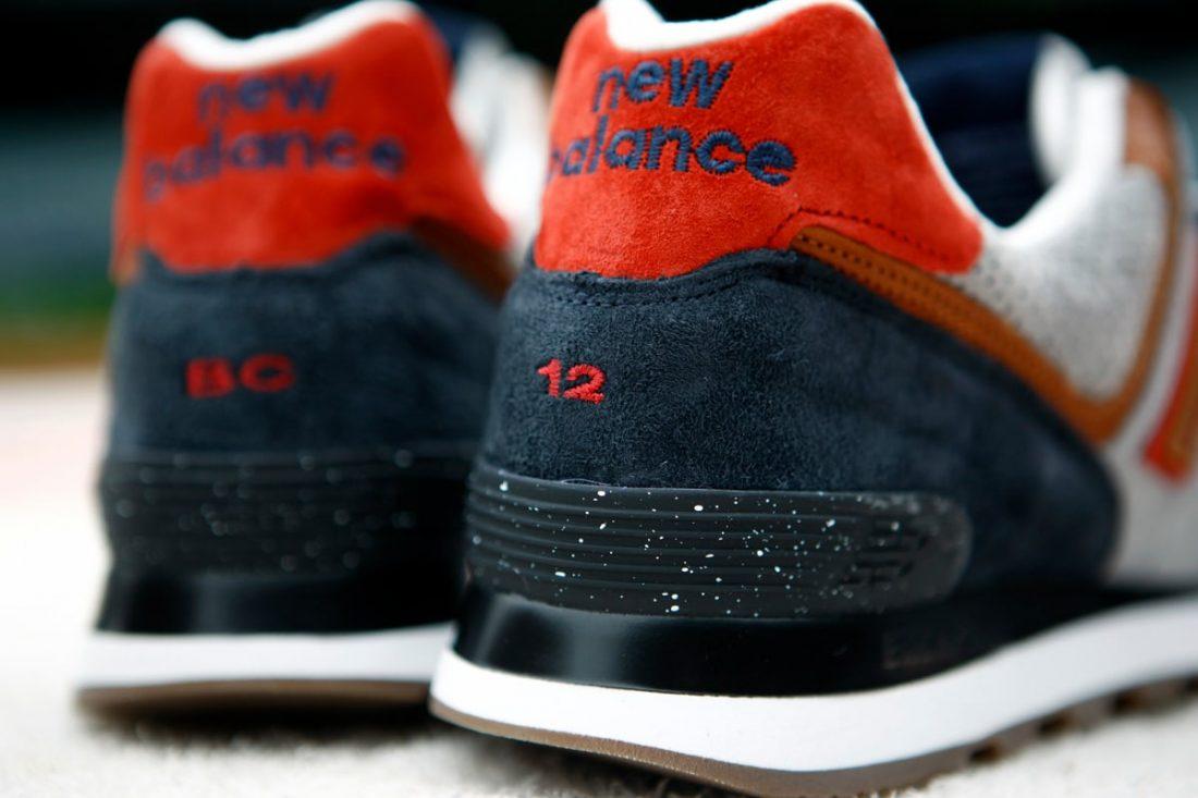 new balance 574 bleu orange