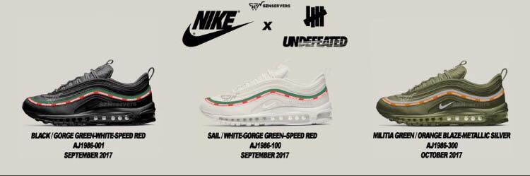 the latest b4d37 462a9 Trois Undefeated x Nike Air Max 97 OG pour l'automne - Le ...
