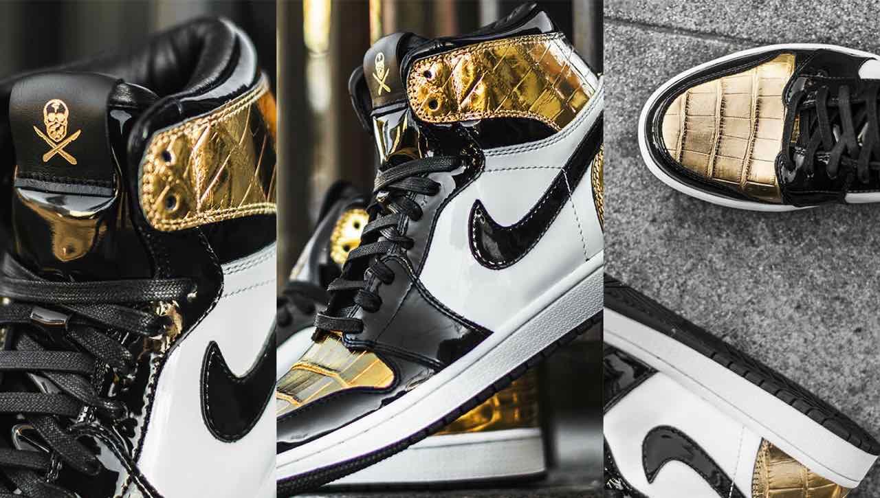 Une Air Jordan 1 en or 24 carats - Gov