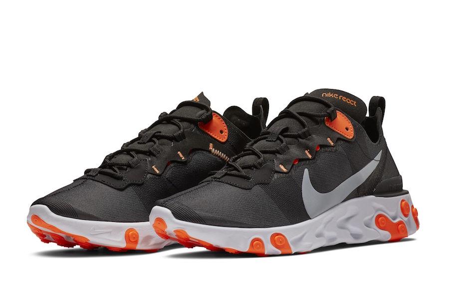 Preview: Nike React Element 55 Black Orange - Gov