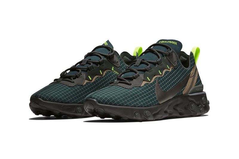 Preview: Nike React Element 55 Dark Green - Le Site de la Sneaker