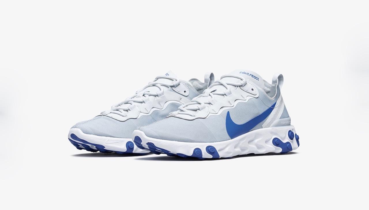 Preview: Nike React Element 55 White Blue - Le Site de la Sneaker