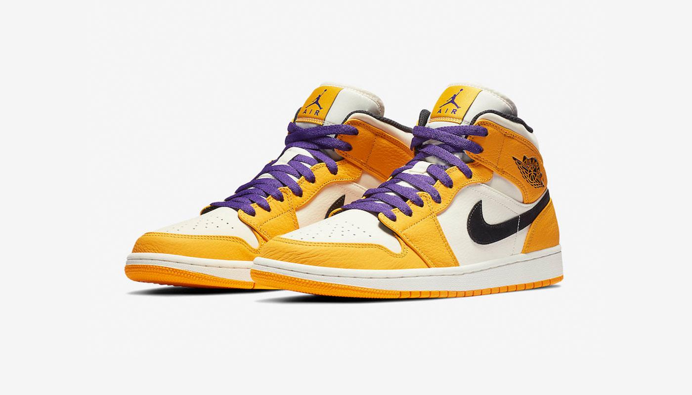 Une nouvelle Air Jordan 1 Mid aux couleurs des Lakers - Gov