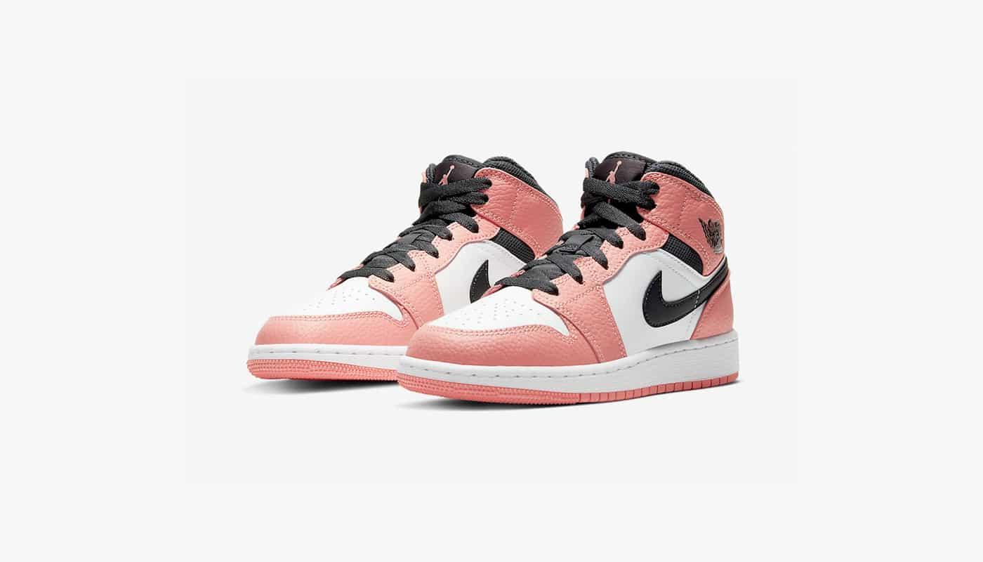 cheetah jordan or nike shoes | Preview: Air Jordan 1 Mid GS Pink ...