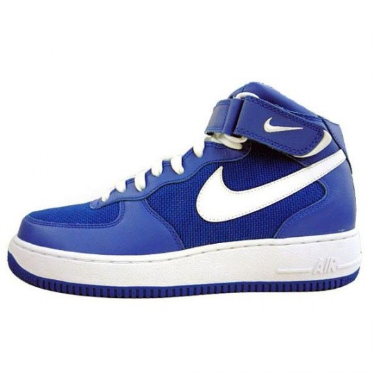 nike air force mid blue white
