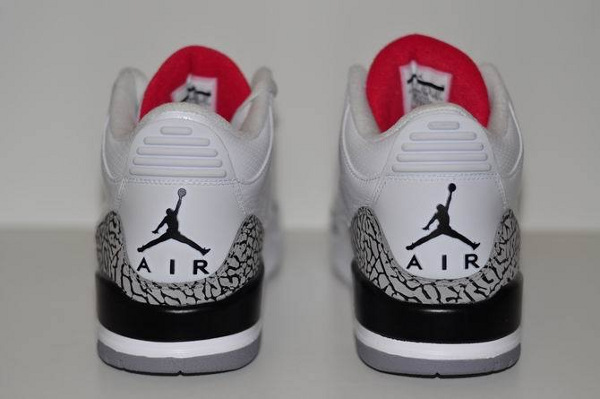 new concept bccb9 fc132 Air Jordan 3 Retro White/Fire Red-Cement Grey-Black ...