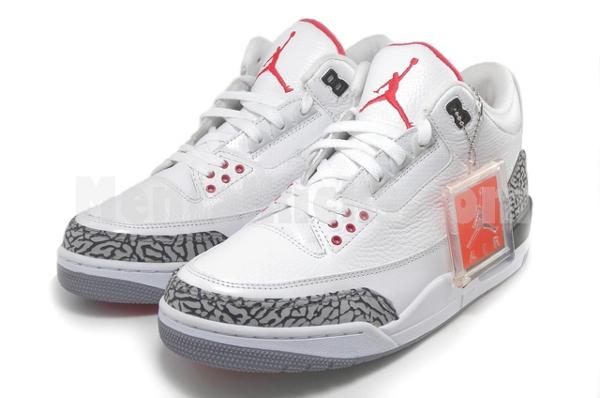 Air Jordan III Retro WhiteCement Grey Fire Red Nouvelles