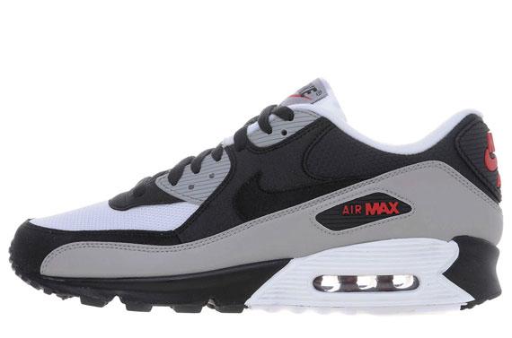 air max 90 grey black red