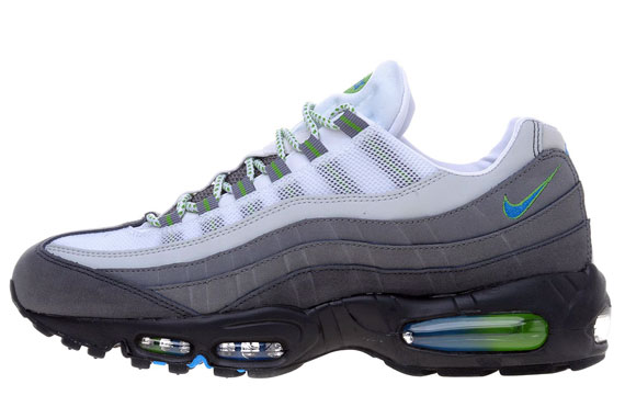 Nike Air Max 95 Anthracite Photo Blue Green Apple White Le