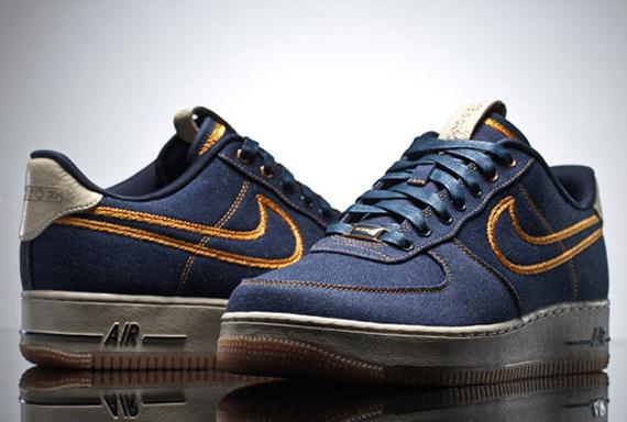 Release Info: Nike Air Force 1 Low Premium Denim Bronze Le