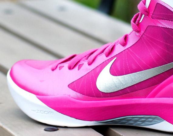 best website 68f8b 3b3aa Nike Zoom Hyperdunk 2011 PinkfireWhite-Metallic Silver