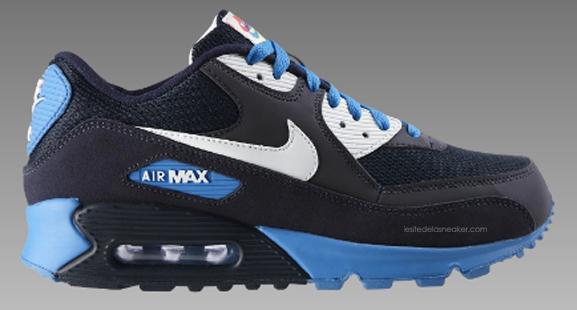blue black white air max