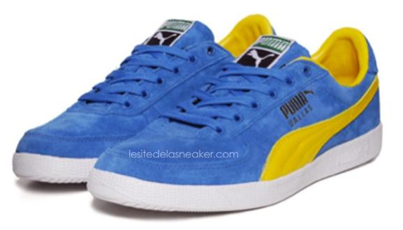 puma bleu et jaune