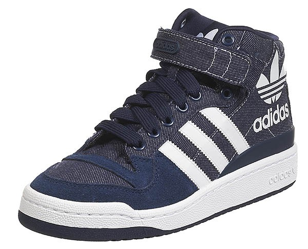 best website d580e a3980 Adidas Forum Mid RS XL Indigo Fonce Blanc Jeans dispo