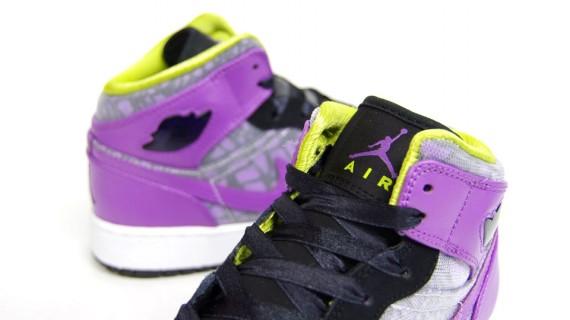 9ea890c3fa90 Air Jordan 1 Phat GS Black-Violet Pop-Cyber - Le Site de la Sneaker
