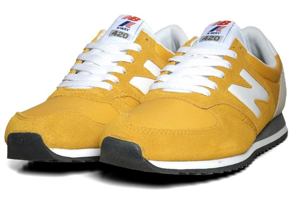 k way x new balance 420 yellow le site de la sneaker. Black Bedroom Furniture Sets. Home Design Ideas