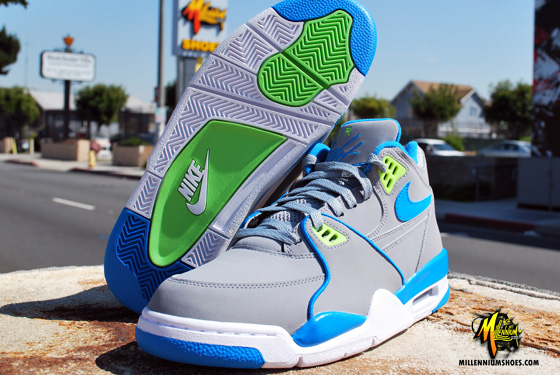 Nike Air Flight 89 StealthNeptune Blue Action Green Le