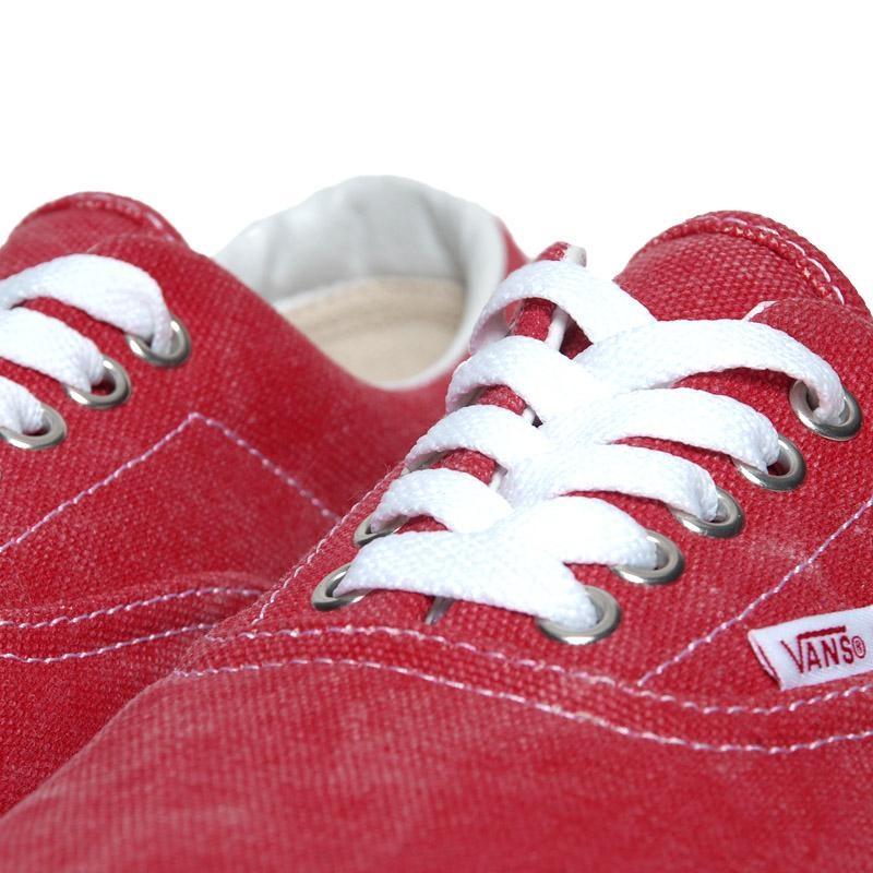vans rouge délavé
