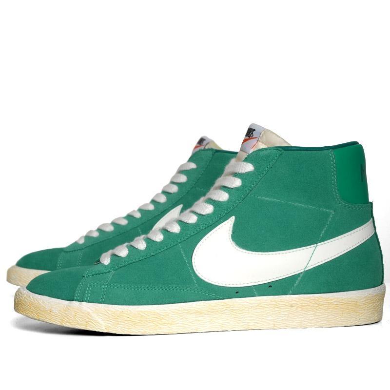 nike blazer hi suede vintage new green le site de la sneaker. Black Bedroom Furniture Sets. Home Design Ideas
