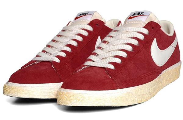 Nike Blazer Low Premium Vintage Varsity Red - Gov