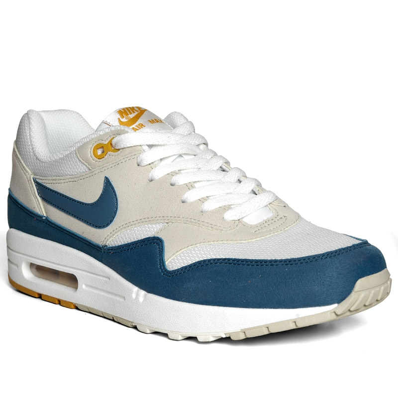Nike Air Max 1 Summit White Shaded Blue Sandtrap Le Site