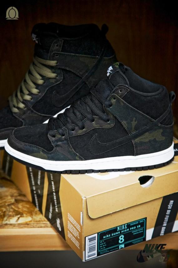 the best attitude a5a1e eaee4 Nike SB Dunk High Camo Juillet 2012