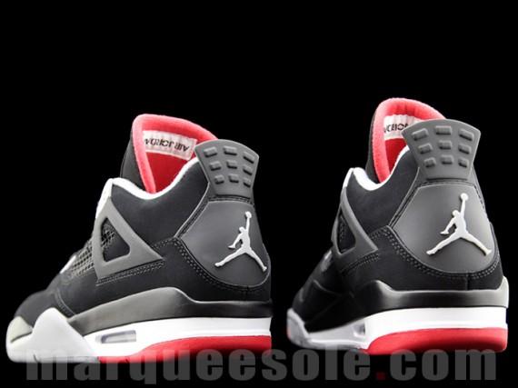 buy online 4870e 5a3ac Air Jordan 4  Coloris  Black Cement Grey-Fire Red  Style  308497-089  Prix   160€  Date de release  23 11 12