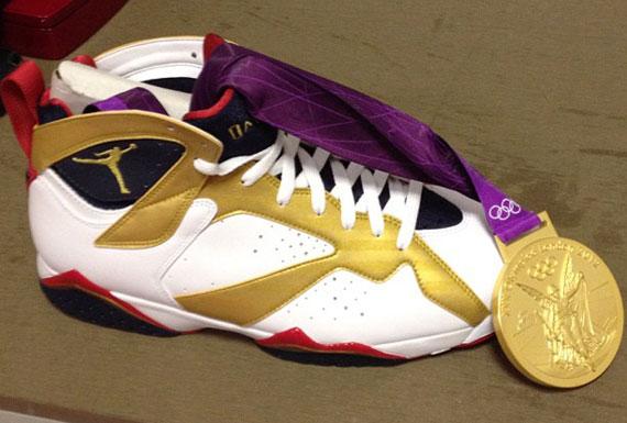 jordan 7 gold medal