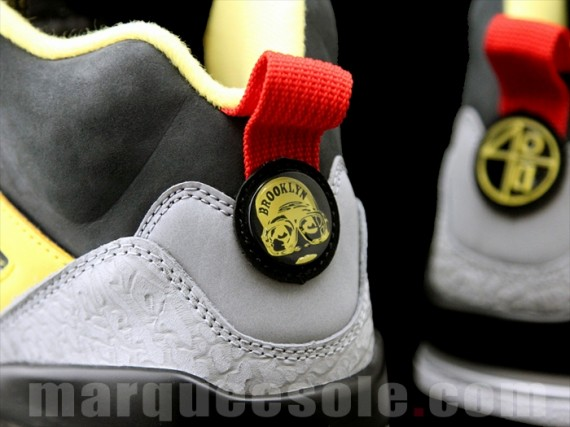 2b8d7c29ea5 air jordan spizike 3m td black grey yellow Nike Air Jordan Spizike 2013 Chilling  Red Tour ...