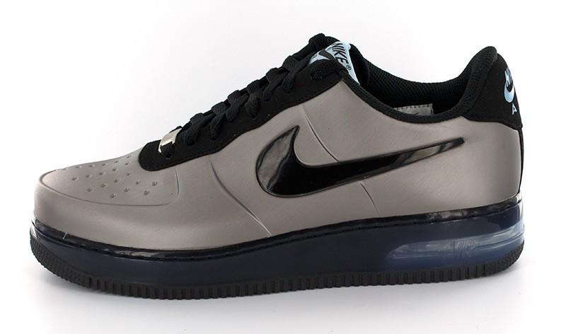 wholesale sales top design ever popular Nike Air Force 1 Low Foamposite Pro Silver Black - Le Site ...