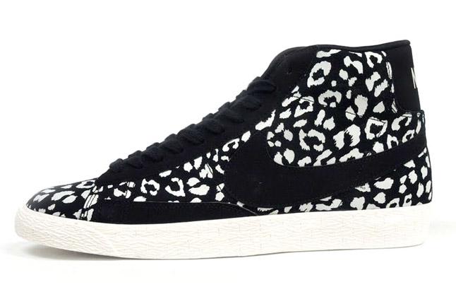 nike blazer leopard noir et blanc