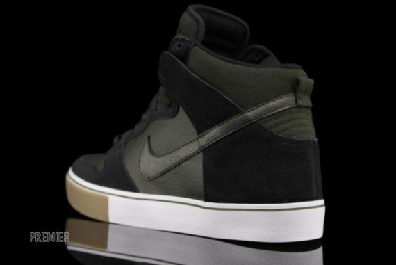 check out dff49 ad789 ... nike dunk high lr black sequoia gum