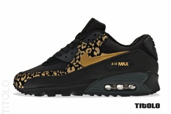 air max blanche et leopard